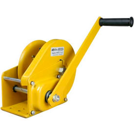 OZ Lifting OZ1500BW Carbon Steel Hand Winch with Brake 1500 Lb. Capacity