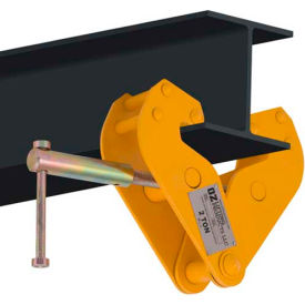 "OZ Lifting OZ2BC Beam Clamp 2 Ton Capacity, Fits Beam Flange Range 2.95""-9.05"""