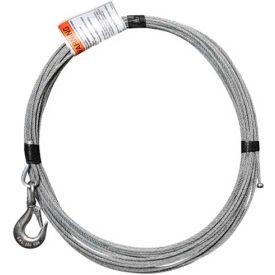 "OZ Lifting 3/16"" Galvanized Cable Assembly for COMPOZITE Davit Crane"