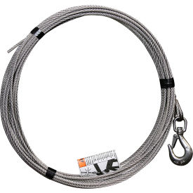 """OZ Lifting 3/16"""" Stainless steel cable assembly for Davit Cranes"""