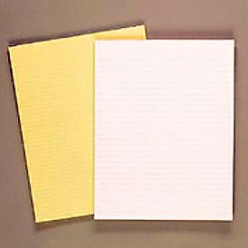 Evidence® Glue Top 8-1/2 x 11 Pads, Wide Rule, Canary, 50 Sheets, Dozen