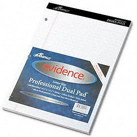 Evidence® Canary Dual Pad w/Narrow Rule, 8-1/2 x 11-3/4, 100 Sheets