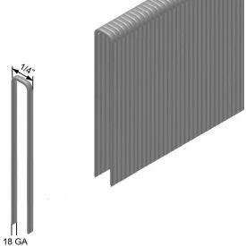 "18 Gauge Staple - 5/8"" Length - 1/4"" Crown - Galvanized Steel - Pkg of 50000"