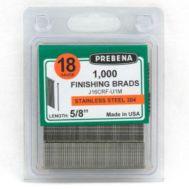 """18 Gauge Straight Finish Brad Nail - 1"""" Length - 304 Stainless Steel - Pkg of 10000 - Made In USA"""