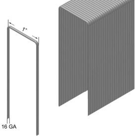 "16 Gauge Staple - 3/4"" Length - 1"" Crown - Galvanized Steel - Pkg of 10000"