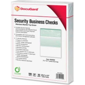 "Docugard Security Business Checks with Marble Top 8-1/2"" x 11"" Green 500 Sheets/Pack"