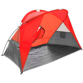 """Picnic Time Cove Sun Shelter 112-00-100-000-0, 94.5""""W X 47.2""""D X 47.2""""H, Red/Gray/Silver"""