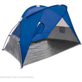 "Picnic Time Cove Sun Shelter 112-00-139-000-0, 94.5""W X 47.2""D X 47.2""H, Blue/Gray/Silver"