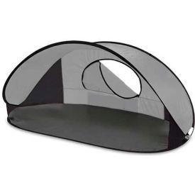 "Picnic Time Manta Sun Shelter 113-00-105-000-0, 86.6""W X 47.2""D X 39.4""H, Silver/Gray/Black"