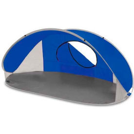 "Picnic Time Manta Sun Shelter 113-00-139-000-0, 86.6""W X 47.2""D X 39.4""H, Blue/Gray/Silver"