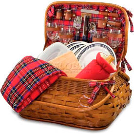 Picnic Time Highlander Willow Picnic Basket by