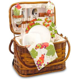 Picnic Time Romance Willow Picnic Basket