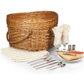 Picnic Time Heart Willow Picnic Basket