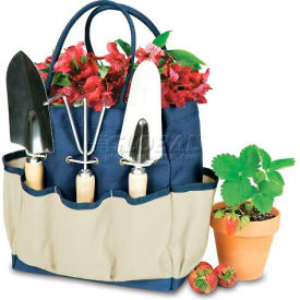 Picnic Time Large Garden Tote, Navy