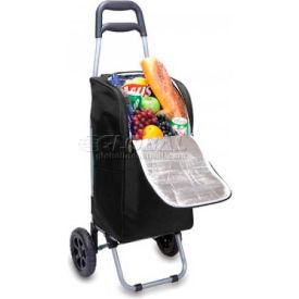 Picnic Time Cart Cooler On Wheels, Black
