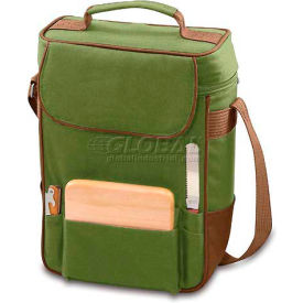 Picnic Time Duet Wine and Cheese Tote, Pine Green