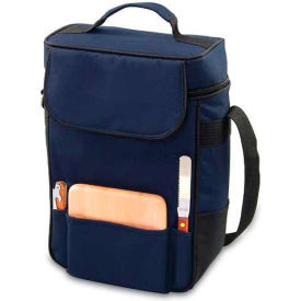 Picnic Time Duet Wine and Cheese Tote, Navy