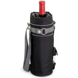 Picnic Time Wine Sack Insulated Single-Bottle Tote, Black