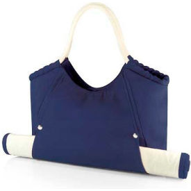 Picnic Time Cabo Beach Tote and Mat, Navy