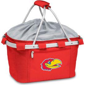 Metro Basket - Red (U Of Kansas Jayhawks) Embroidered