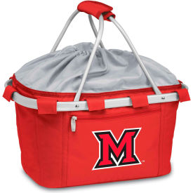 Metro Basket - Red (Miami U Red Hawks) Embroidered