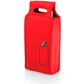 Picnic Time Samba Two-Bottle Wine Tote, Red