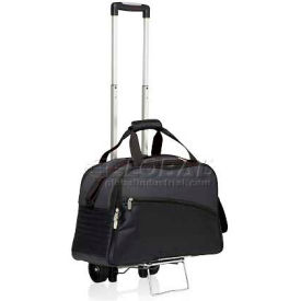 Picnic Time Tundra Cooler Tote with Trolley Black