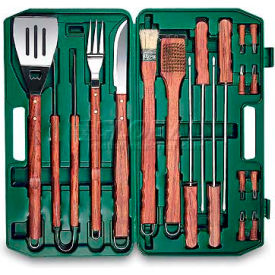 Picnic Time 18-Piece BBQ Set, Hunter Green Case
