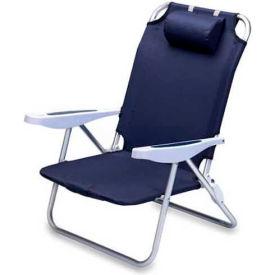 "Picnic Time Monaco Beach Chair 790-00-138-000-0, 25""W X 23""D X 34""H, Navy"