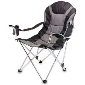 "Picnic Time Reclining Camp Chair 803-00-175-000-0, 36""W X 33""D X 42""H, Black and Gray"