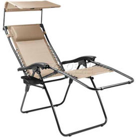 """Picnic Time Serenity Lounge Chair 805-00-189-000-0, 26""""W X 5.75""""D X 37""""H, Two-toned Taupe"""