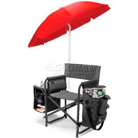 """Picnic Time Fusion Chair 807-00-679-000-0, 33""""W X 24""""D X 18.5""""H, Dark Gray with Black"""