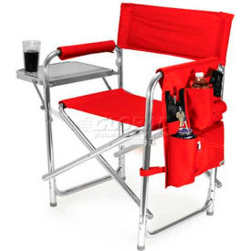 """Picnic Time Sports Chair 809-00-100-000-0, 19""""W X 4.25""""D X 33.25""""H, Red"""