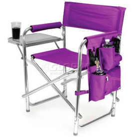 "Picnic Time Sports Chair 809-00-101-000-0, 19""W X 4.25""D X 33.25""H, Purple"