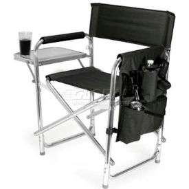 """Picnic Time Sports Chair 809-00-179-000-0, 19""""W X 4.25""""D X 33.25""""H, Black"""