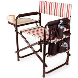 "Picnic Time Sports Chair - Moka 809-00-777-000-0, 19""W X 4.25""D X 33.25""H, Moka Collection"