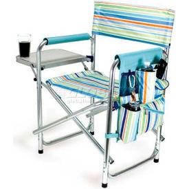 """Picnic Time Sports Chair - St. Tropez 809-00-991-000-0, 19""""W X 4.25""""D X 33.25""""H, St. Tropez"""