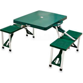 Picnic Time Portable Folding Picnic Table with Seats, Hunter Green