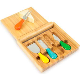 Picnic Time Carnaval Cutting Board with Cheese Tools