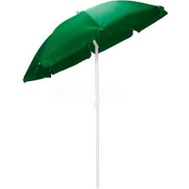 Picnic Time 5.5' Solid-Colored Polyester Umbrella Hunter Green