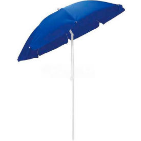 Picnic Time 5.5' Solid-Colored Polyester Umbrella Navy