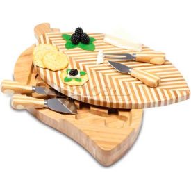 Picnic Time Leaf Cutting Board with Cheese Tools