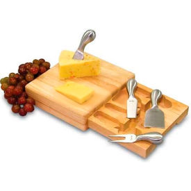 Picnic Time Festiva Cutting Board with Cheese Tools