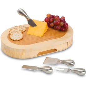 Picnic Time Formaggio Cutting Board with Cheese Tools