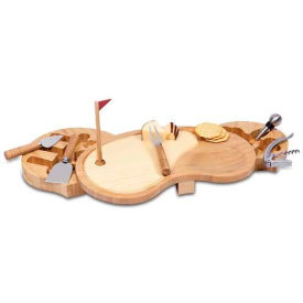 Picnic Time Sand Trap Cutting Board with Cheese Tools
