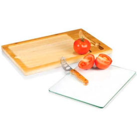 Picnic Time Icon Cutting Board with Removable Serving Tray Top