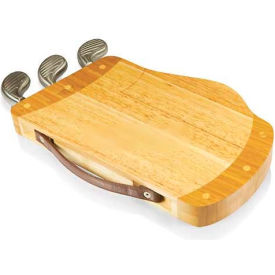 Picnic Time Caddy Cutting Board with Cheese Tools