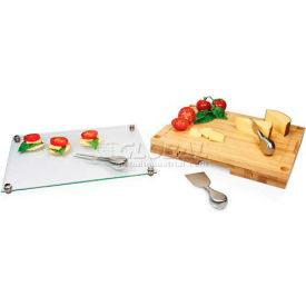 Picnic Time Concerto Cutting Board with Removable Serving Tray Top
