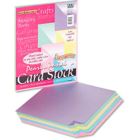 "Pacon® Reminiscence Card Stock 109130, 8-1/2"" x 11"", Assorted Pastel, 50/Pack"