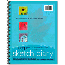 "Pacon® Art1st Sketch Diary 4794, 8-1/2"" x 11"", White, 70 Sheets/Pad"
